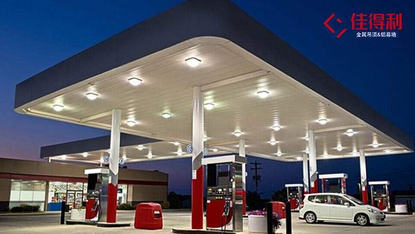 加油站罩棚吊顶专用铝条扣天花怎么做防风