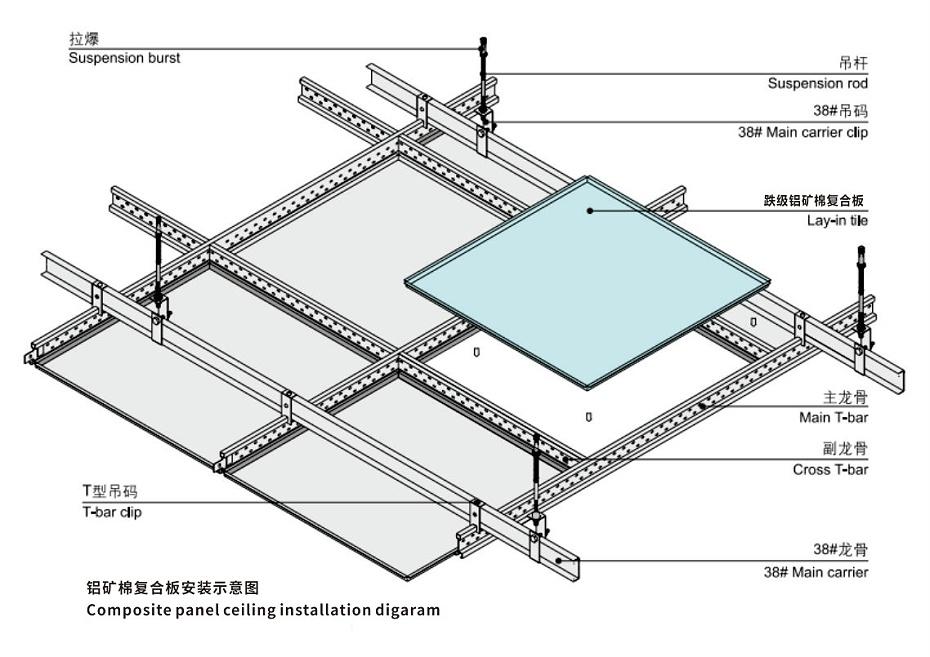 铝矿棉复合板铝吸音复合板佳得利铝复合板6